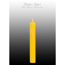 Świeca z wosku - żółta 9 x...