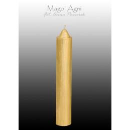 Świeca z wosku - złota 10 x 1,8 cm