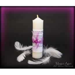 Świeca archanielska Gabriel - biała