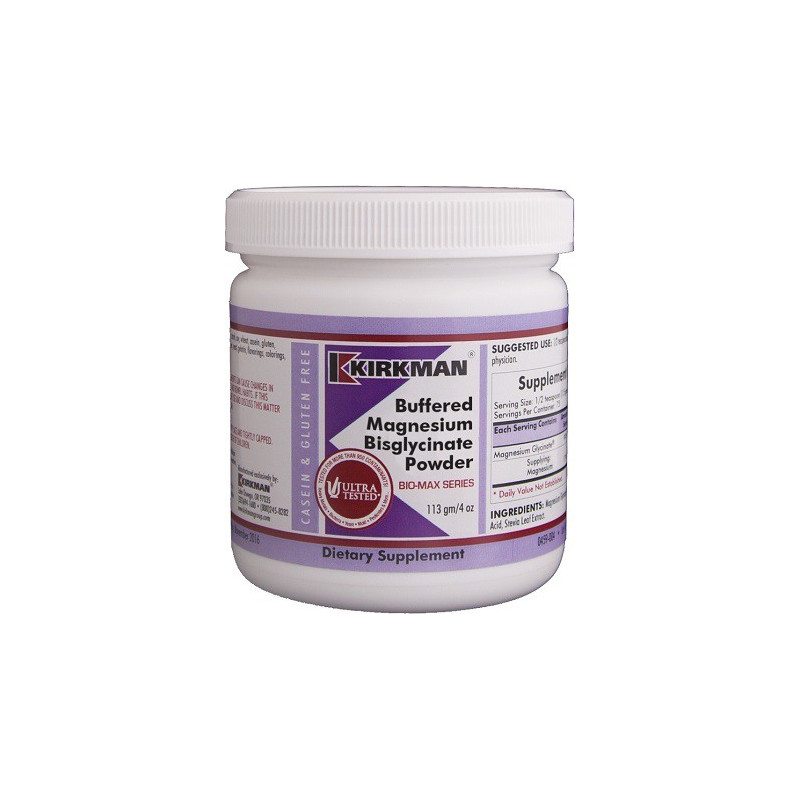 Buffered Magnesium Bisglycinate Powder - 113 g Kirkman
