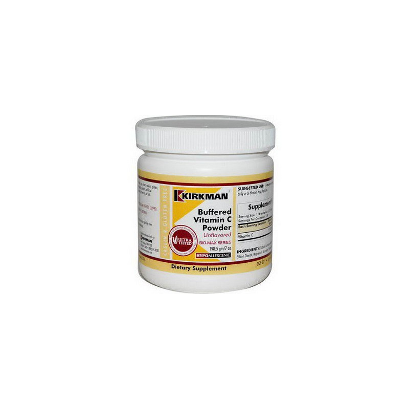 Buffered Vitamin C Powder - Unflavored (Hypoallergenic) 198,5g. witamina C Kirkman