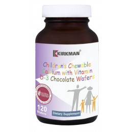 Children's Chewable Calcium chocolate wafers - 120 tabl. Kirkman