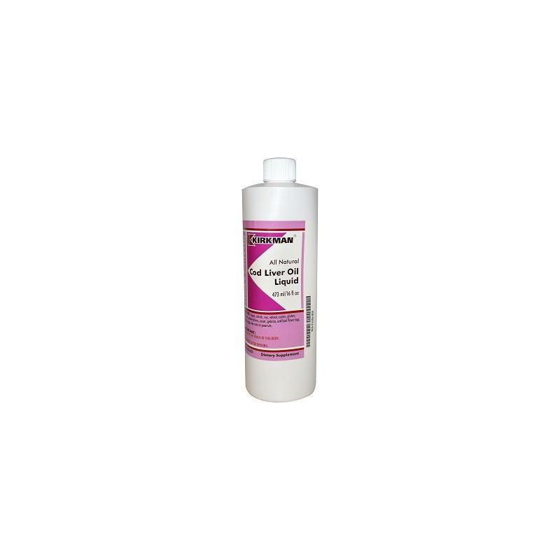 Cod Liver oil liquid 473ml - tran z wątroby dorsza Kirkman