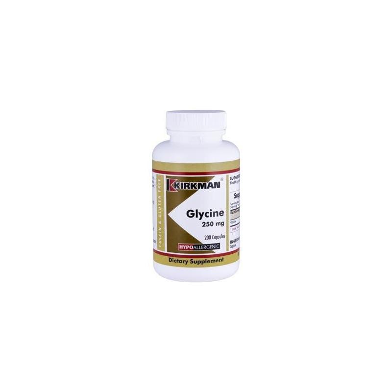 Glycine 250 mg (Hypoallergenic) 200 kaps. Kirkman