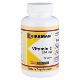 Vitamin C 250mg (Hypoallergenic) 250 kaps. Kirkman