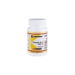Vitamin D-3 2000 IU (Hypoallergenic) 120kaps.-wit.D3 Kirkman