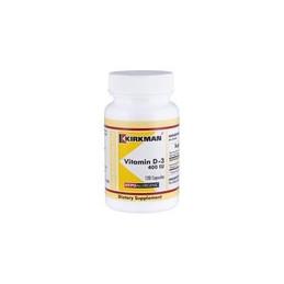 Vitamin D-3 400 IU (Hypoallergenic) 120 kaps.-wit.D3 Kirkman