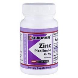 Zinc picolinate 25mg (Hypoallergenic) 150 kaps.-cynk w płynie Kirkman