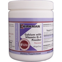 Calcium with Vitamin D3 Powder Flavored 454g Kirkman