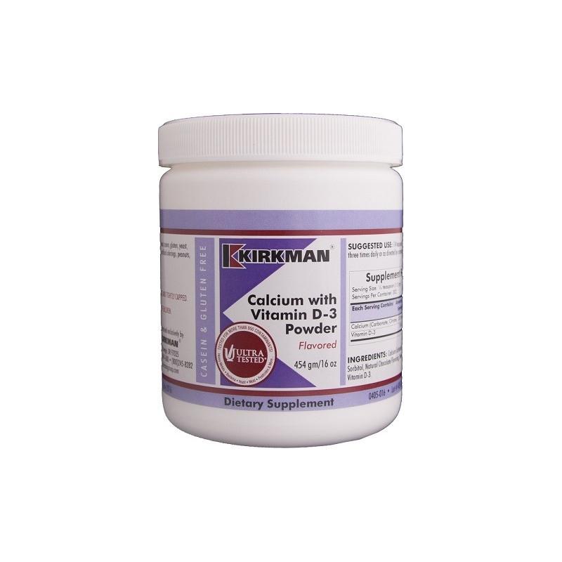 Calcium with Vitamin D3 Powder Flavored 454g Kirkman