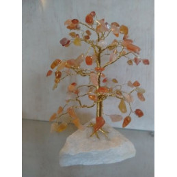 Drzewko szczęścia 100 kamieni - karneol, wys. 17 cm