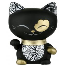 """Figurka MANI CAT """"The Lucky Cat"""" Kotek czarny ze złotą obróżką (11cm)"""