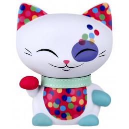 """Figurka MANI CAT """"The Lucky Cat"""" Kotek biały z turkusową obróżką (11cm)"""