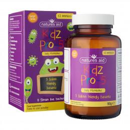 Kidz Pro-5 (Daily Microbiotic)  90g - Probiotyk dla dzieci 1-12 lat (5 miliardów przyjaznych bakterii) Nature's Aid