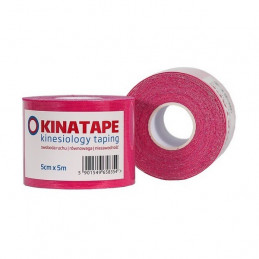KINATAPE kinesiology taping (5m x 5cm) taśma różowa