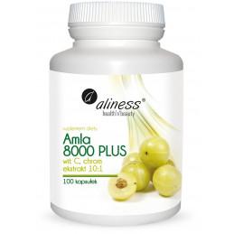 Amla 8000 PLUS z witaminą C i chromem (100 kapsułek) Aliness