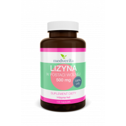 Lizyna w postaci wolnej L-lizyna HCL (100 kapsułek) Medverita