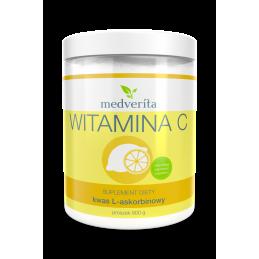 Witamina C - kwas askorbinowy (proszek 900g) Medverita