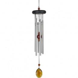 Dzwonek wietrzny Czakry - Amber (bursztyn) Woodstock Chimes