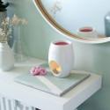 Biały kominek ceramiczny ELIPSE Bolsius