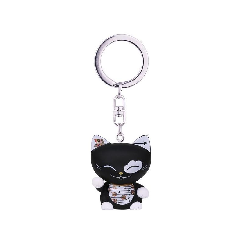 """Brelok MANI the lucky CAT / Czarny kotek na szczęście """"STRZAŁA"""" (MLCK042)"""