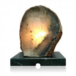 Lampa z Agatu na marmurowej podstawie (3,6 kg)