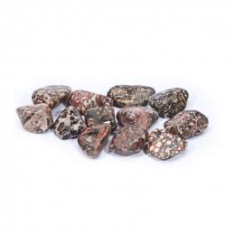 Jaspis lamparci - kamień bębnowany ((2,5 x 2 cm)