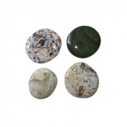 Jaspis oceaniczny - kamień bębnowany płaski 4 sztuki (wzór C)