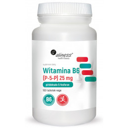 Witamina B6 25 mg (100 tabl. VEGE) Aliness