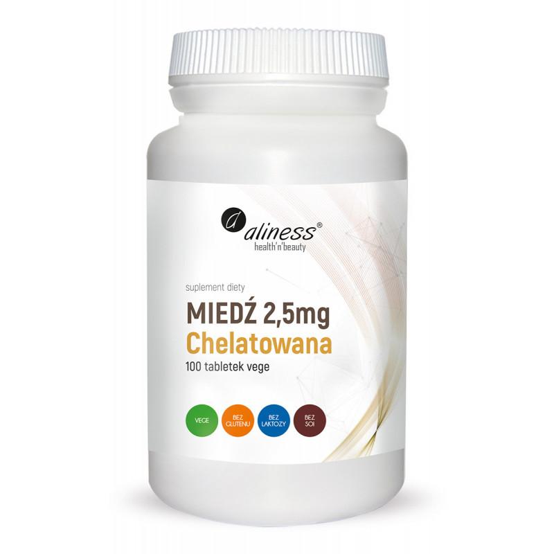 Miedź chelatowana 2,5 mg (100 tabl. VEGE) Aliness