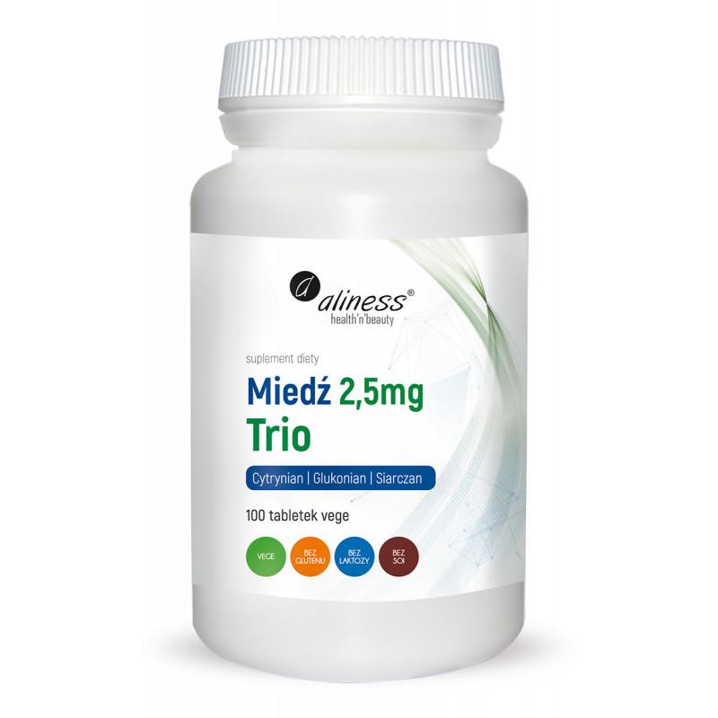 Miedź Trio 2,5 mg (100 tabl. VEGE) Aliness (10.2020)