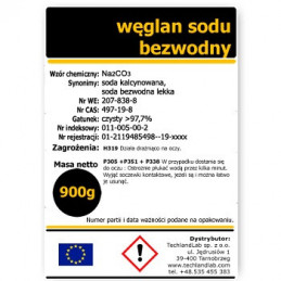 Soda kalcynowana (węglan sodu bezwodny lekki) 1500 g