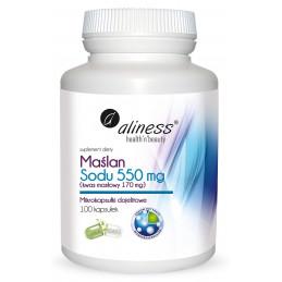 Maślan Sodu 550 mg (100 kaps. VEGE) Aliness