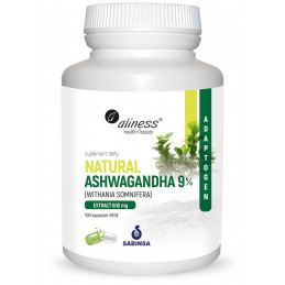Natural Ashwagandha 600 mg (100 kaps. VEGE) Aliness