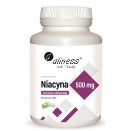 NIACYNA Amid kwasu nikotynowego 500 mg (100 kapsułek VEGE) Aliness (12.2021)