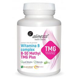 Witamina B complex B-50 Methyl TMG Plus (100 kapsułek VEGE) Aliness (09.2022)