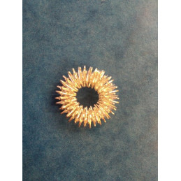 Pierścień elastyczny na palec Su Dżok - srebrny