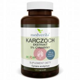 KARCZOCH ekstrakt 5% z cynaryny (120 kapsułek) Medverita (09.2024)