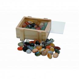 """""""Skrzynia skarbów"""" wypełniona kamieniami bębnowanymi (500 g)"""