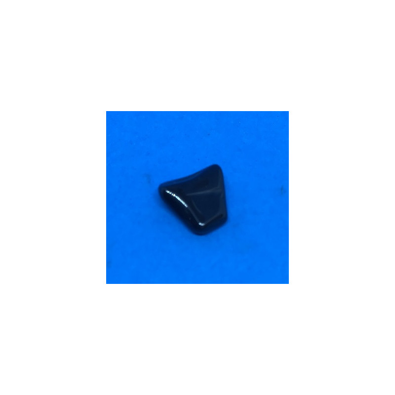 Obsydian czarny bębnowany 20 x 10 mm