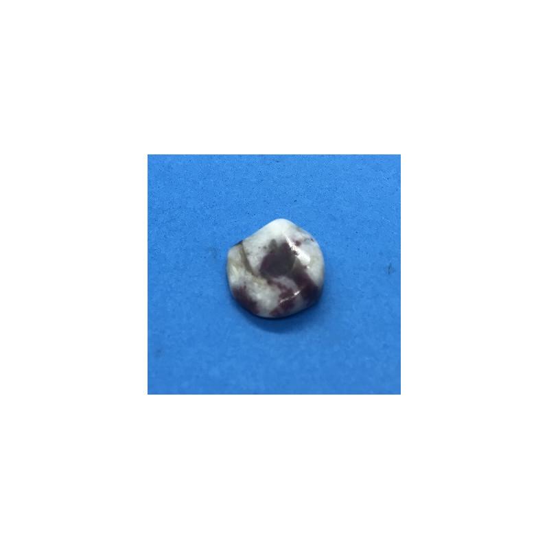 Turmalin różowy - kamień bębnowany 20 x 20 mm