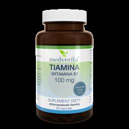 TIAMINA (witamina B1) 100 mg (60 kapsułek) Medverita