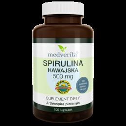 Spirulina hawajska Pacifica® 500 mg (100 kapsułek) Medverita (04.2022)