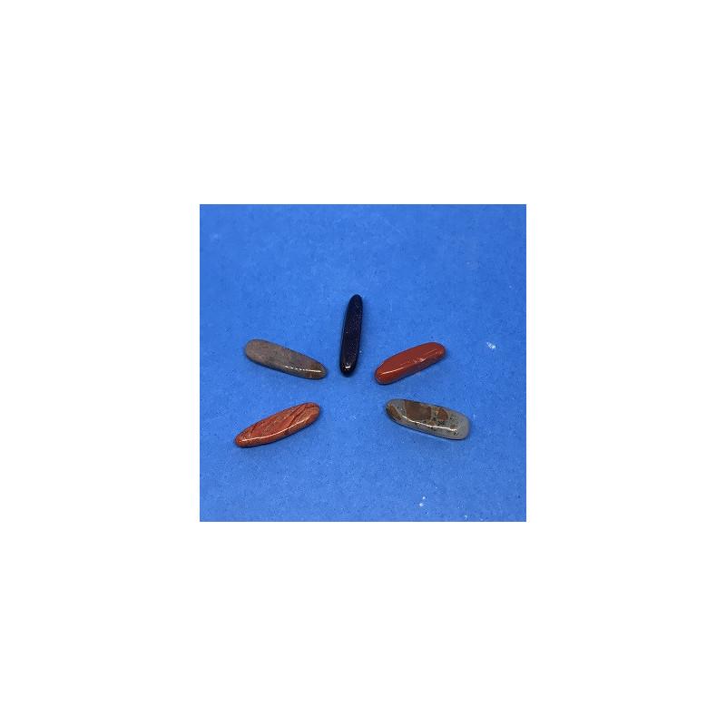 Sopelki - kamienie bębnowane 2,5 x 0,5 cm