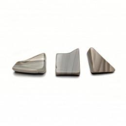 Krzemień pasiasty kamień bębnowany  3 x 2 cm - zestaw 2 szt
