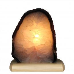 Lampa z Agatu na drewnianej podstawie (2,21 kg)