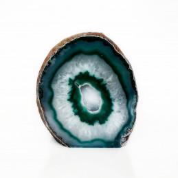 Agat zielony - geoda stojąca (0,552 kg)