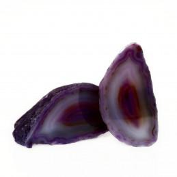 Agat fioletowy - przecięty kamień (0,291 kg)