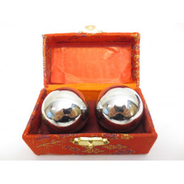 Kule do masażu, kolorze srebrny (4 cm) - kule zdrowia