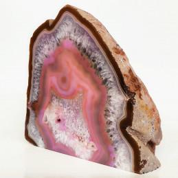 Agat różowy - jakość A - zgład stojący (2,73 kg)
